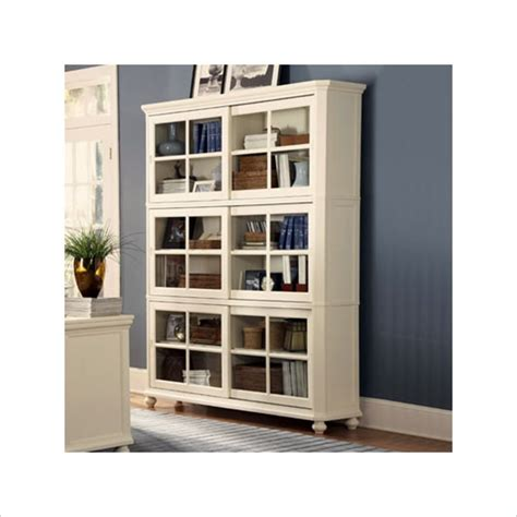 gray bookcase with doors furniture white wooden book cabinet with glass door added