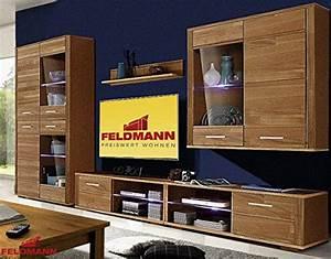 Wohnwand 2 Teilig : wohnwand 692990 anbauwand 5 teilig eiche teilmassiv wohnwand ~ Indierocktalk.com Haus und Dekorationen