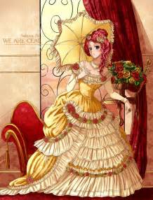 Victorian Era Anime Girl Dress