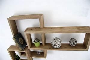 Etagere Bois Design : etagere murale devi yvar design mobilier ecodesign ~ Teatrodelosmanantiales.com Idées de Décoration