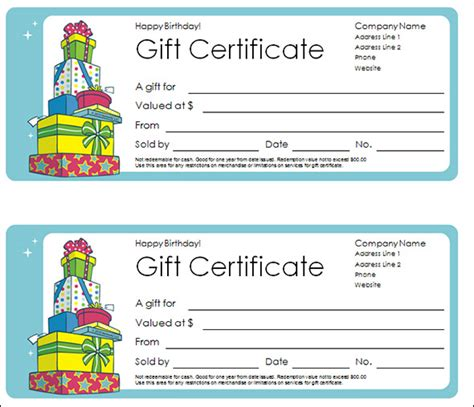 gift certificate template    psd word