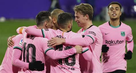 Resumen y goles del Barcelona vs. Valladolid (3-0): marca ...