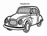 Coloring Cars Sheets Sheet Sports Racing Muscle Simple Esl sketch template