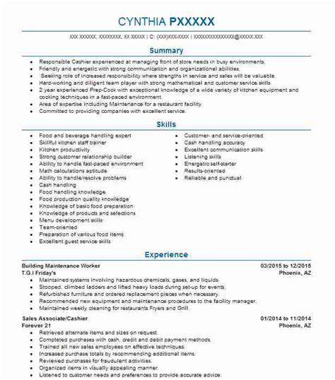 Maintenance Worker Resume by Building Maintenance Worker Resume Sle Livecareer