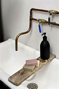 Exposed Copper Faucet and Sink Pipes