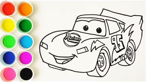 como dibujar  colorear  rayo de los cars  disney