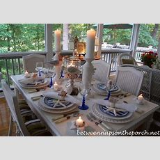 Beach And Nautical Themed Table Settings Tablescapes