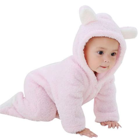 baby jumpsuit winter autumn newborn baby romper hooded warm jumpsuit
