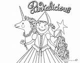 Pinkalicious Coloring Unicorn Pages Flower Printable Template Friends Bettercoloring sketch template