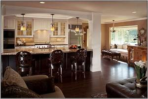 open concept kitchen and living rooms home combo With living room and kitchen design