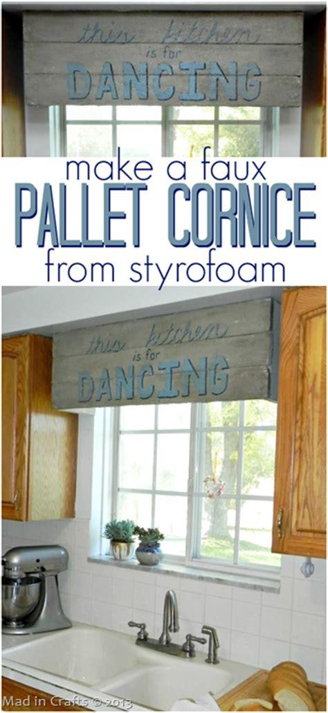 faux pallet sign cornice  styrofoam mad  crafts