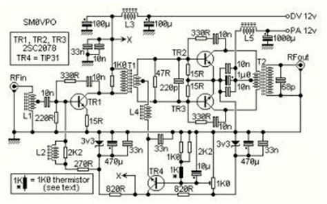 Radio Frequency Amplifier Linear Circuit