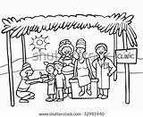 Missionaries Poor Feeding Refugee Vector Line Clip Charity Illustrations Illustration Shutterstock Camp Vectors Similar sketch template