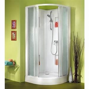 Cabine De Douche 170x80 : cabine de douche angle arrondie ~ Edinachiropracticcenter.com Idées de Décoration