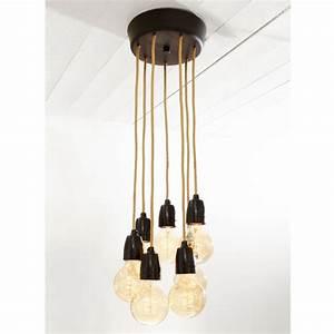 Suspension Multiple Luminaire : plafonnier nud pour suspension ampoule filament multiple ~ Melissatoandfro.com Idées de Décoration