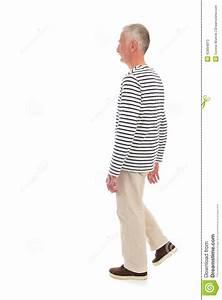 Retired man walking away stock image. Image of shirt ...
