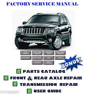 automotive repair manual 2003 jeep grand cherokee parking system jeep grand cherokee wj wg 1999 2000 2001 2002 2003 2004 service repair manual ebay