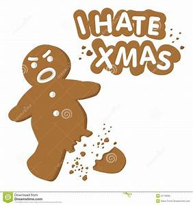 I hate christmas vector stock vector. Image of break ...