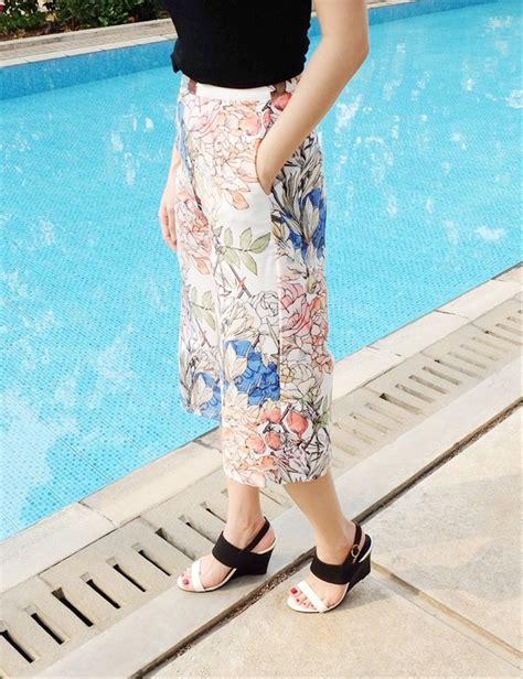 jual baju celana bahan bunga flower jogger jegging kulot korea import di lapak faranisa