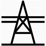 Icon Pole Electricity Electric Pylon Power Tower