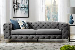 3 Sitzer Sofa Grau : extravagantes samt sofa modern barock grau 3 sitzer chesterfield design riess ~ Bigdaddyawards.com Haus und Dekorationen