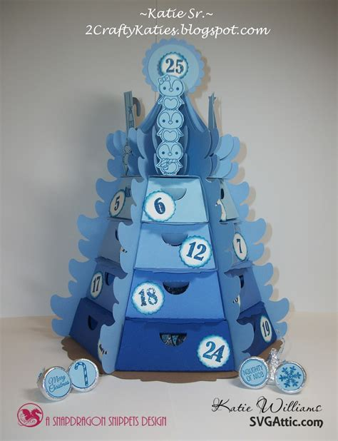 Rated 5.00 out of 5 based on 9 customer ratings. SVG Attic Blog: 3D Advent Christmas Tree - Blue