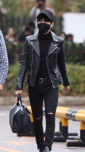 Yoongi in black. | ARMYu0026#39;s Amino