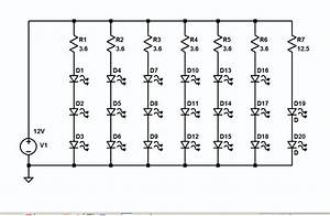 Resistors - 3 Watt Leds In Series
