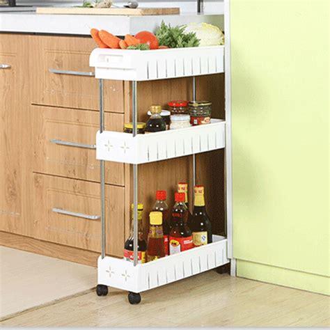 layer gap kitchen storage rack shelf slim  tower