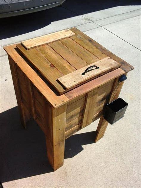 diy pallet cooler box plan  pallets
