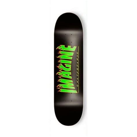 skateboard tavole tavola imagine skateboards flames rasta 8 acquista