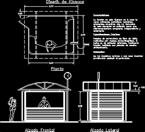design  kiosk dwg detail  autocad designs cad
