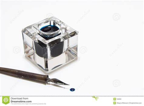 Pen And Inkwell Stock Image. Image Of Inkstand, Ancient