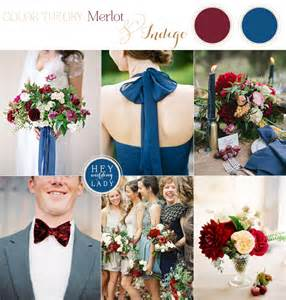 Indigo Blue and Merlot Wedding Colors