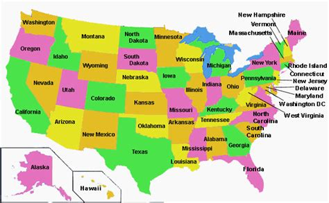 States On A Map Welcome To My Classroom