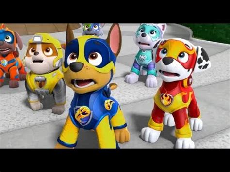 paw patrol mighty pups mighty pups air rescue team chase sky rubble youtube