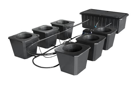 6site Bubble Flow Buckets Hydroponic Grow System