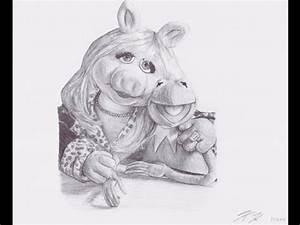 Kermit & Miss Piggy Drawing - YouTube