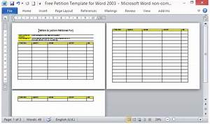 petition template microsoft word Seven Questions To Ask At