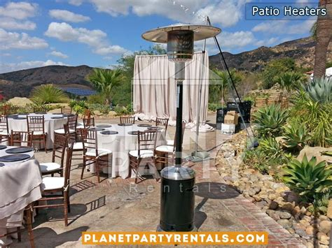 outdoor patio heater rentals tents tables chairs