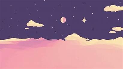 Desktop Computer Aesthetic Sky Moon Night Stars