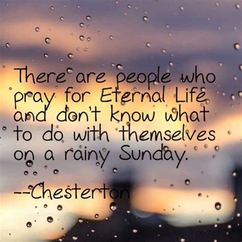 Rainy Sunday Morning Quotes