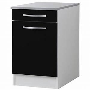 Meuble Bas Porte : meuble bas de cuisine 1 porte 1 tiroir 40cm achat ~ Edinachiropracticcenter.com Idées de Décoration