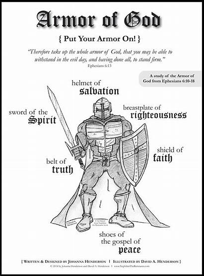 Armor God Coloring Pages Printable Clipart Clip