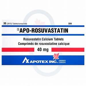 Rosuvastatin 40 Mg Generic By Apotex