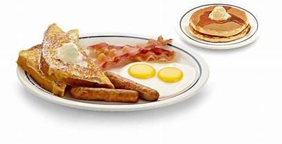 Breakfast Ihop Pancakes Bacon Sausage Menu Split