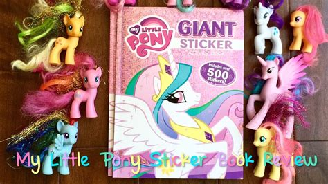 pony sticker book   stickers youtube