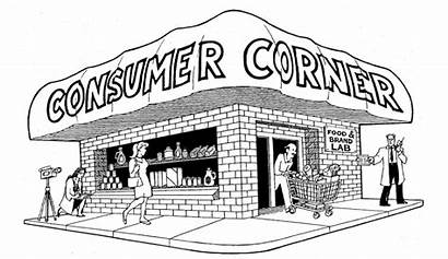Grocery Drawing Stores Cartoon Supermarket Shopping Corner