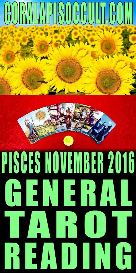 Tarot card, the moon, is related to pisces. PISCES NOVEMBER 2016 TAROTSCOPE ♓🔮 TAROT READING- For ...