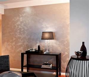 Wand Metallic Effekt : wandfarbe mit einem metalleffekt super coole bilder ~ Michelbontemps.com Haus und Dekorationen